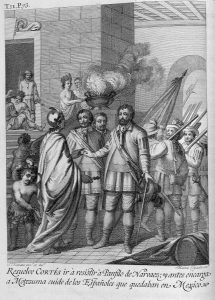 """History of the conquest of Mexico (1783) """"Resolve Cortés to resist Panfilo de Narvaez, and before he orders Montezuma to take care of the Spaniards who remained in Mexico"""""""