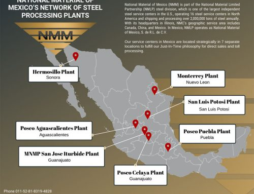 National Material of Mexico's Network of Steel Processing Plants